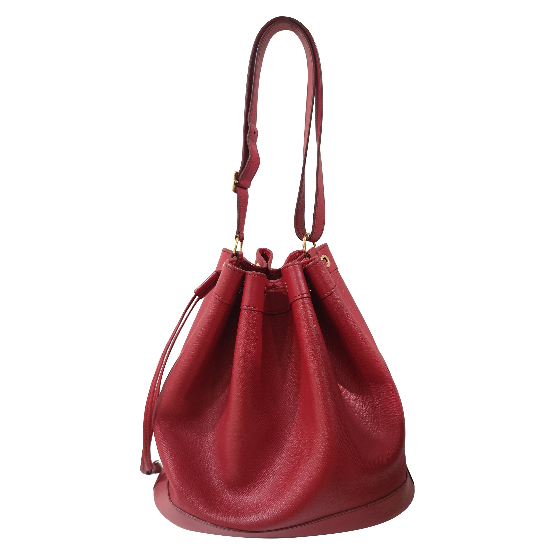 Hermès red satchel bag