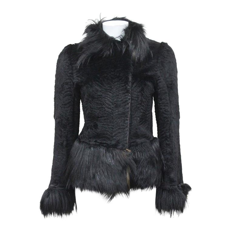 Important Early Alexander McQueen fur jacket, 'Eshu' African Collection Fall 200 For Sale