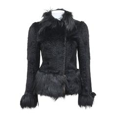 Important Early Alexander McQueen fur jacket, 'Eshu' African Collection Fall 200