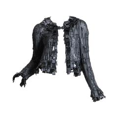Sheer Oscar De LaRenta Embellished Jacket
