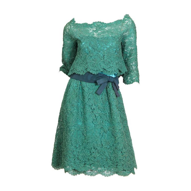 1950/60s Christian Dior New York Lace Dress 1