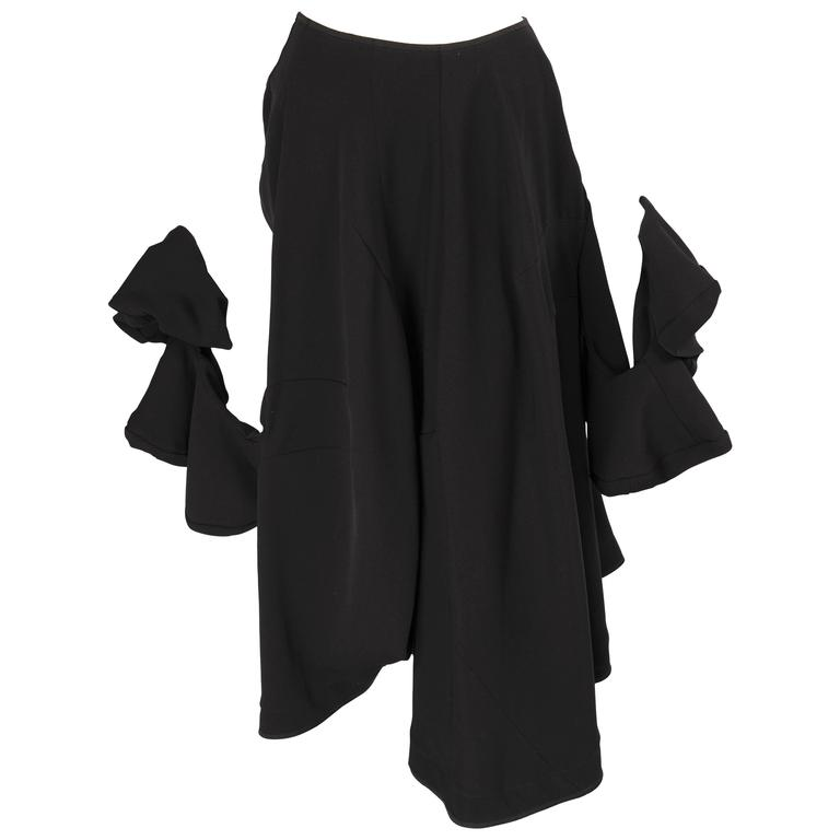 Comme des Garcons Skirt with Long Twisted Sleeves