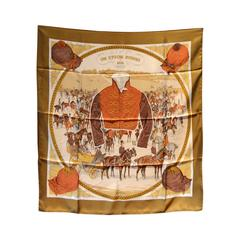 Hermes Vintage-on Epsom Downs Silk Scarf