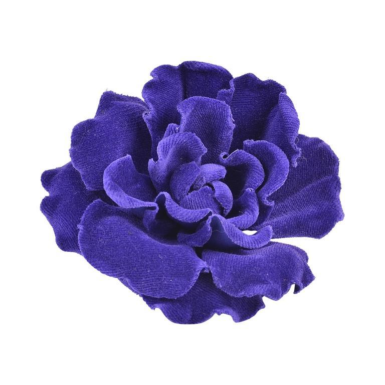 Rare, Fabulous Chanel Velvet Flower Brooch 1