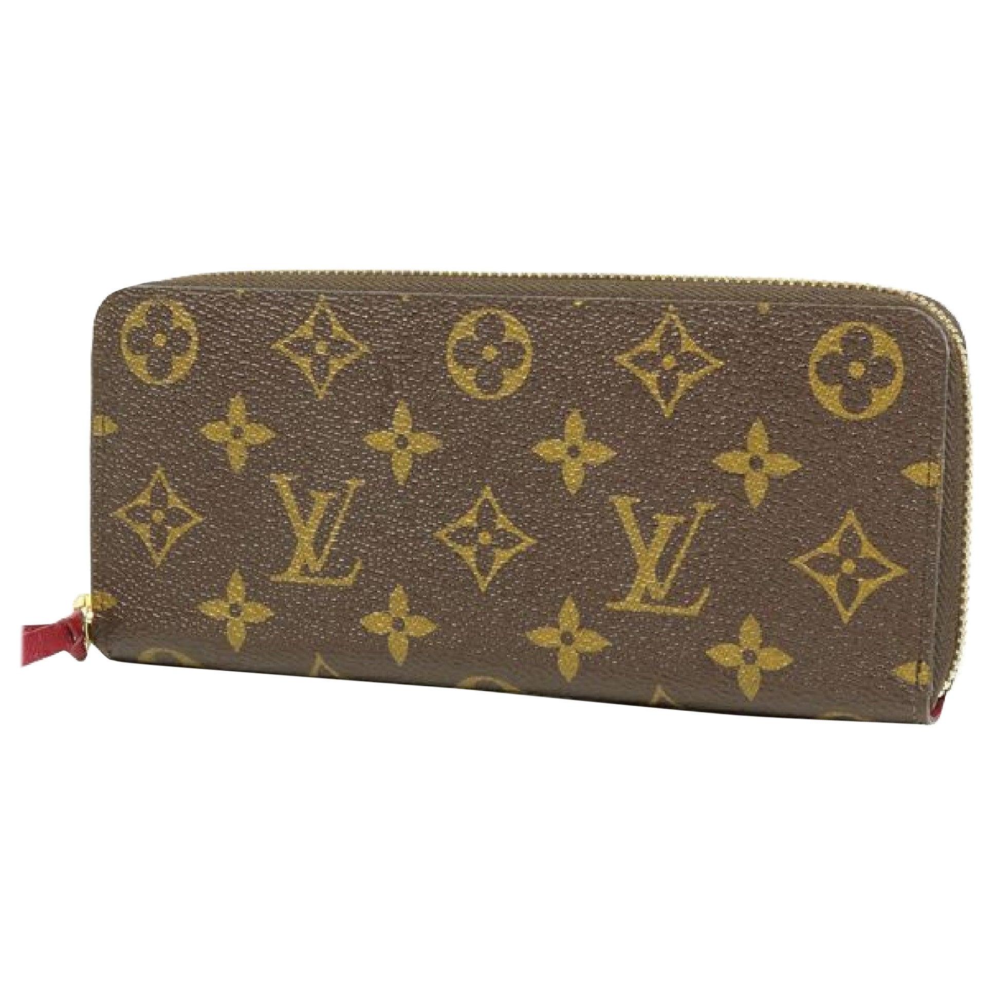 LOUIS VUITTON portofeuilles Clemence Womens long wallet M60742 Fuschia
