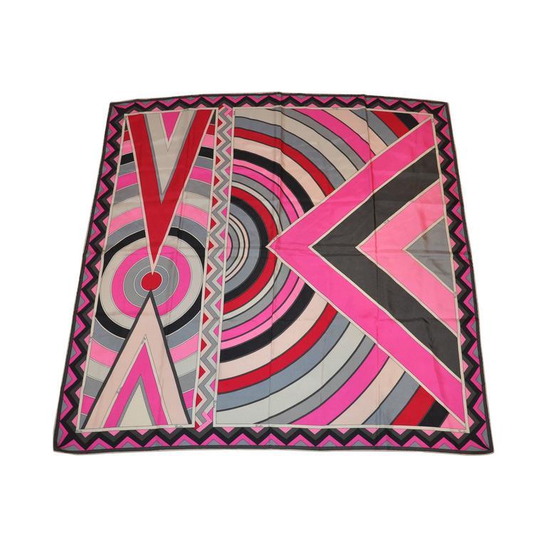 Emilio Pucci Signature Multi-Color Silk Scarf