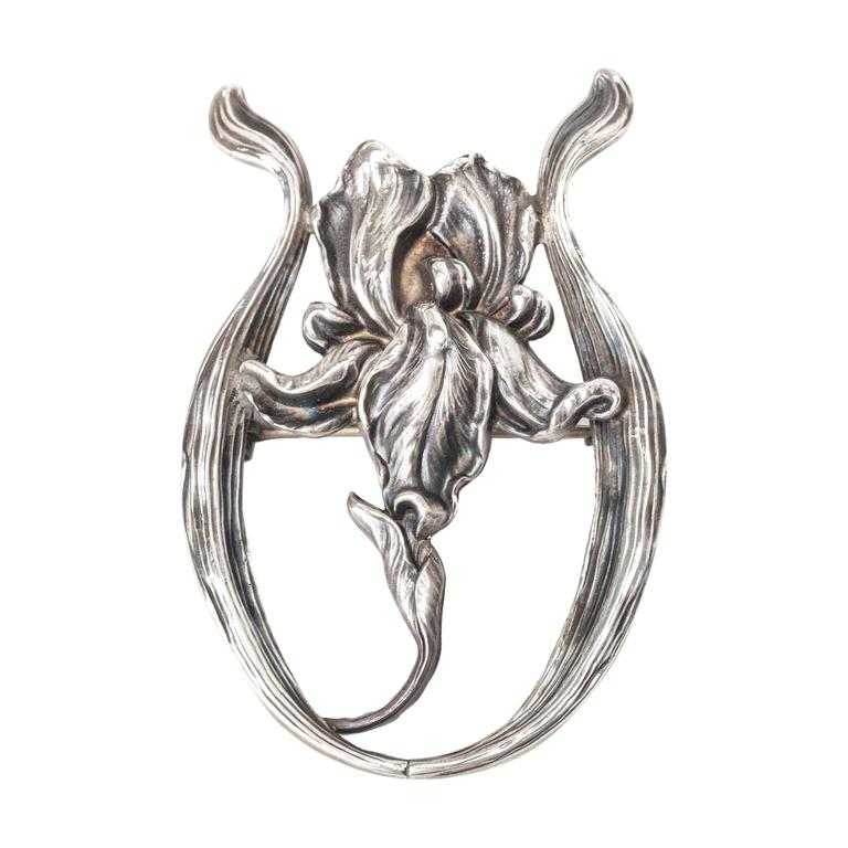 Oversized Kerr Sterling Lily Brooch 1