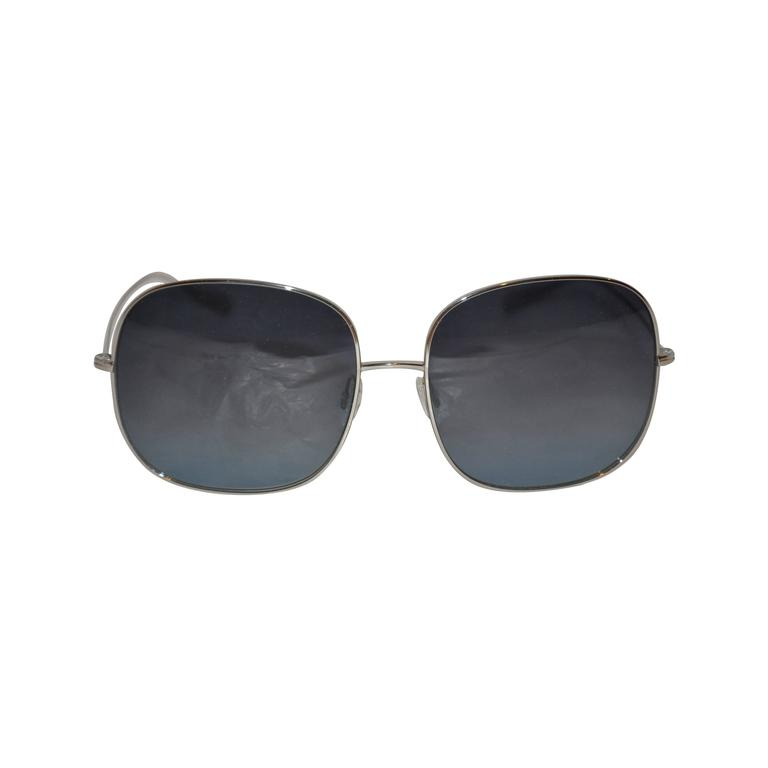 Oliver People Large Silver Hardware Sunglasses For Sale