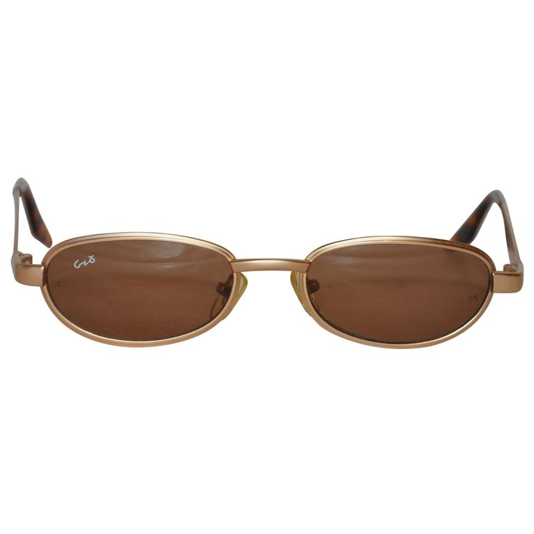 Georgio Armani Polished Gold Hardware with Tortoise Shell Sunglasses