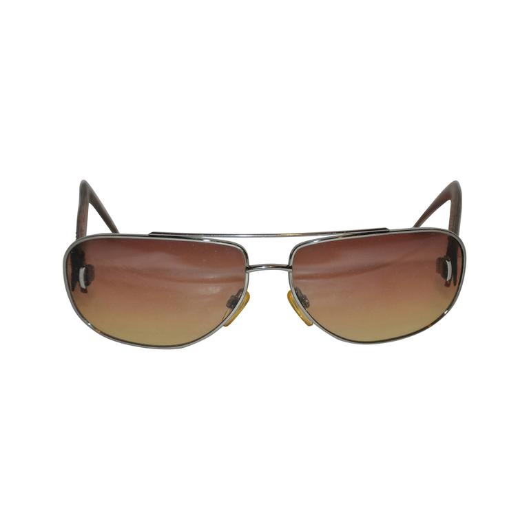 Louis Vuitton Detailed Monogram Hand-stitched Arms Sunglasses