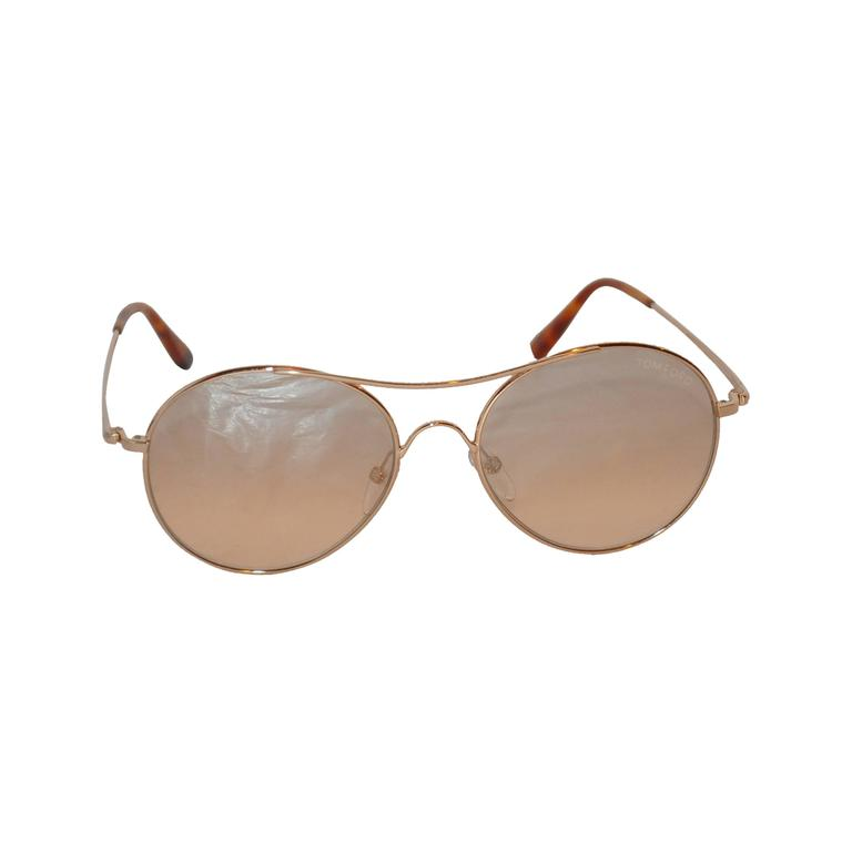 Tom Ford Gold Hardware Sunglass Frame