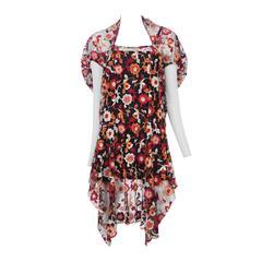 Comme Des Garcons Floral Lace Dress