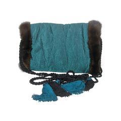 Vintage Isabel Canovas Fur Lined & Mink Trimmed Muff