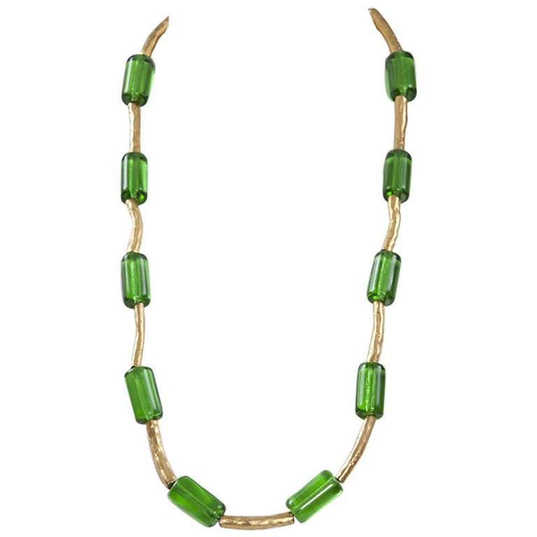 Yves Saint Laurent Glass Necklace For Sale