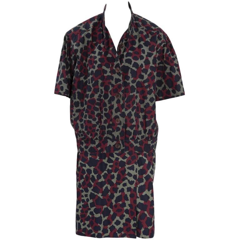 Yves Saint Laurent Leopard Skirt Suit