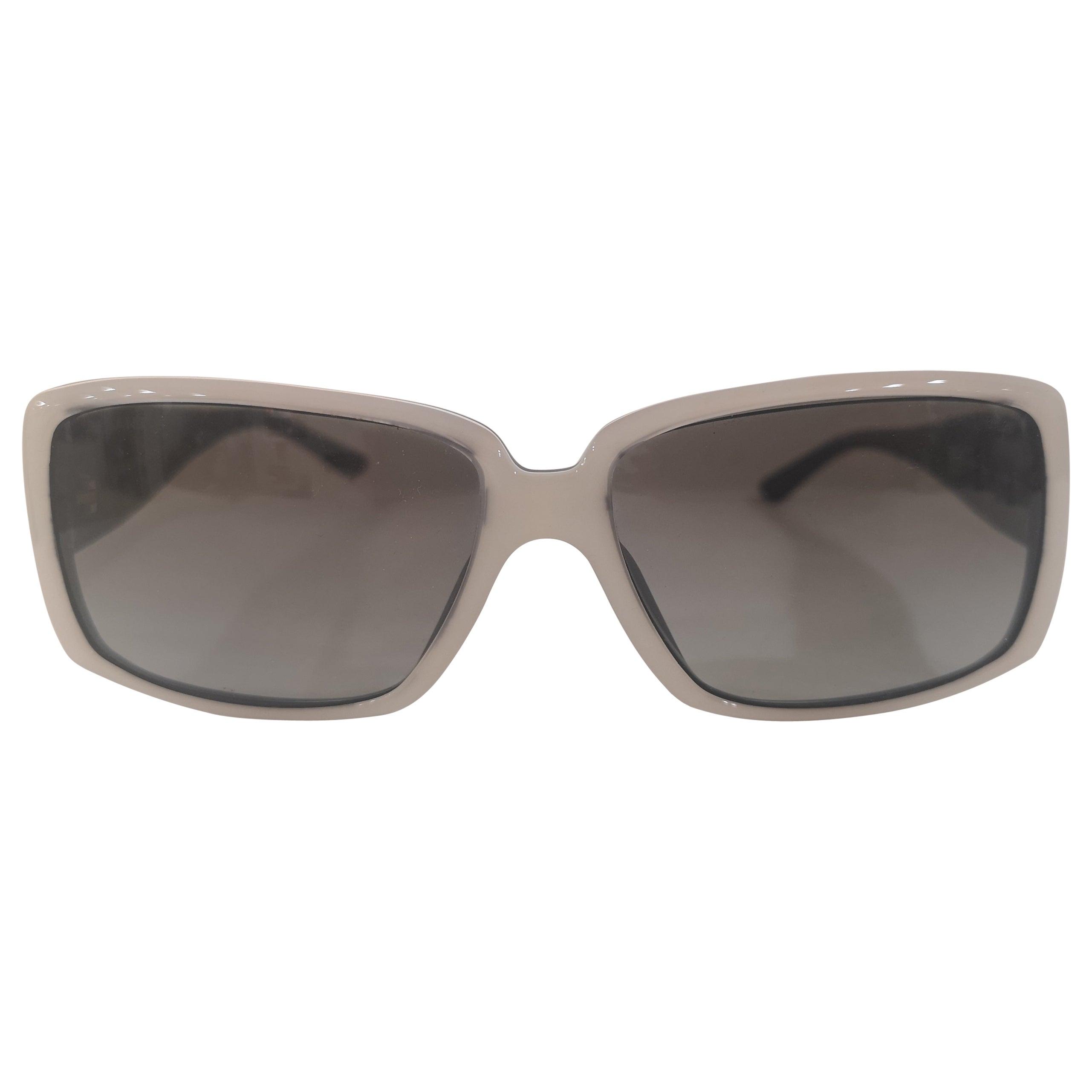 Chanel white black CC Sunglasses