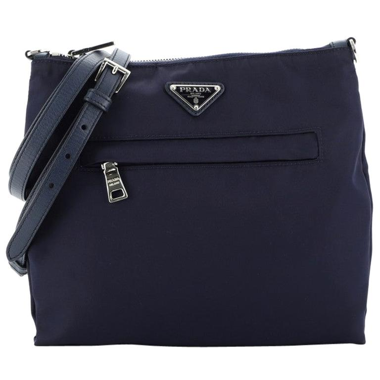 Prada Front Pocket Messenger Bag Tessuto Medium For Sale