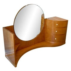 1930s Sycamore Signed and Dated Betty Joel Art Deco Dressing Table or Vanity