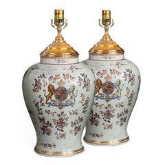 Continental White Porcelain Vases