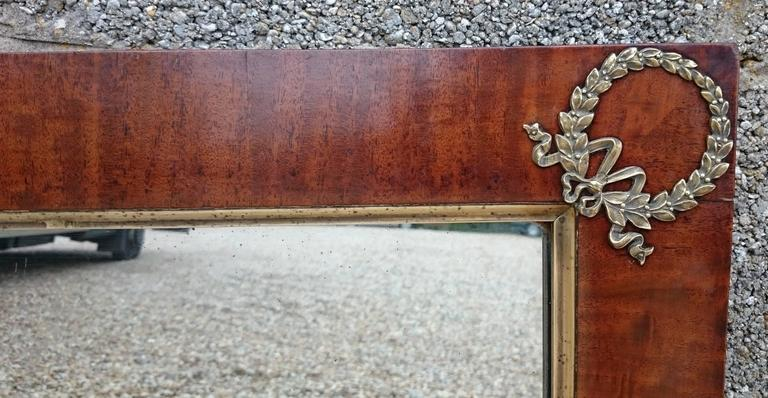 19th Century Antique French Empire Mirror For Sale