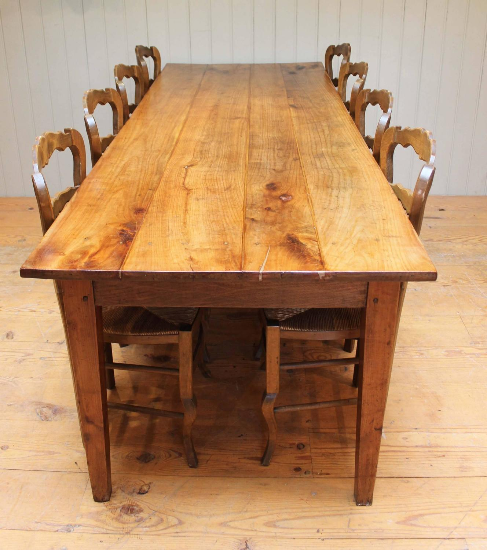 large cherrywood farmhouse table at 1stdibs