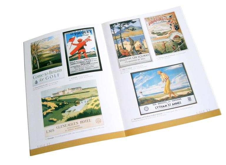 This catalogue accompanied the joint exhibition of the same name by Nick Potter and ourselves. The exhibition was a collaboration of golfing art and memorabilia. A large proportion of the items in the exhibition had come from a private collection in