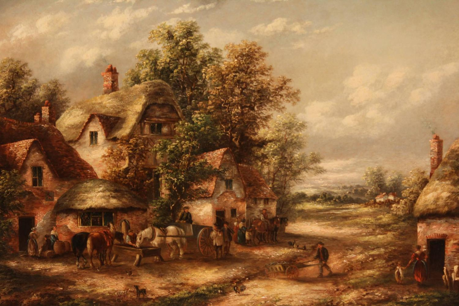 Quot outside the old red lion oil painting by edward masters