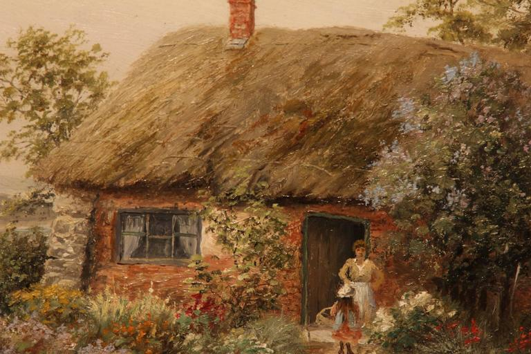 Quot A Cottage View Quot Oil Painting By Frank Rawlings Signed At