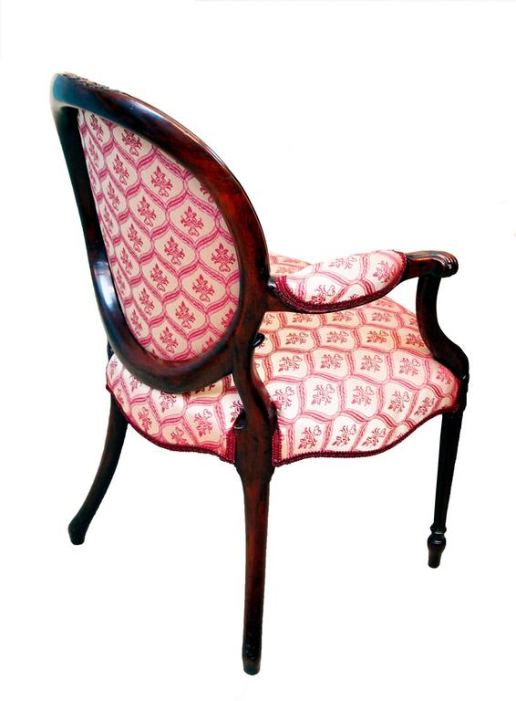 Antique Hepplewhite Period Mahogany Armchair In Good Condition For Sale In Bedfordshire, GB