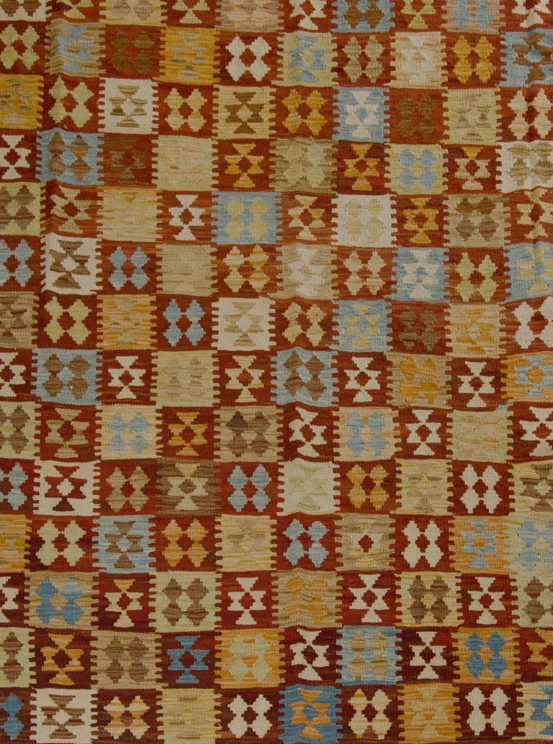 Kilim with geometric designs at 1stdibs for Kilim designs