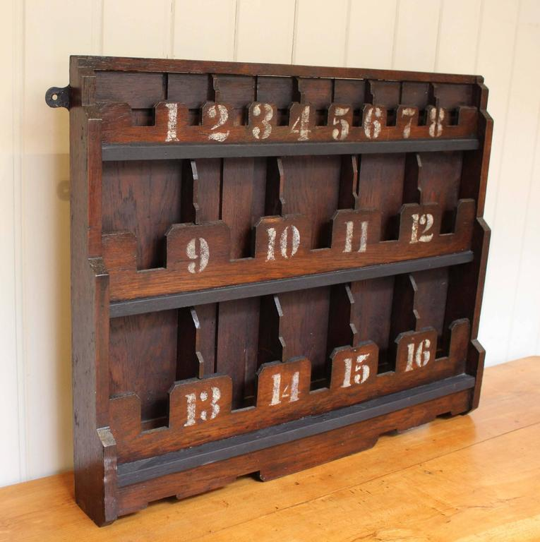 Oak Wall Mounted Pigeon Hole Shelf At 1stdibs
