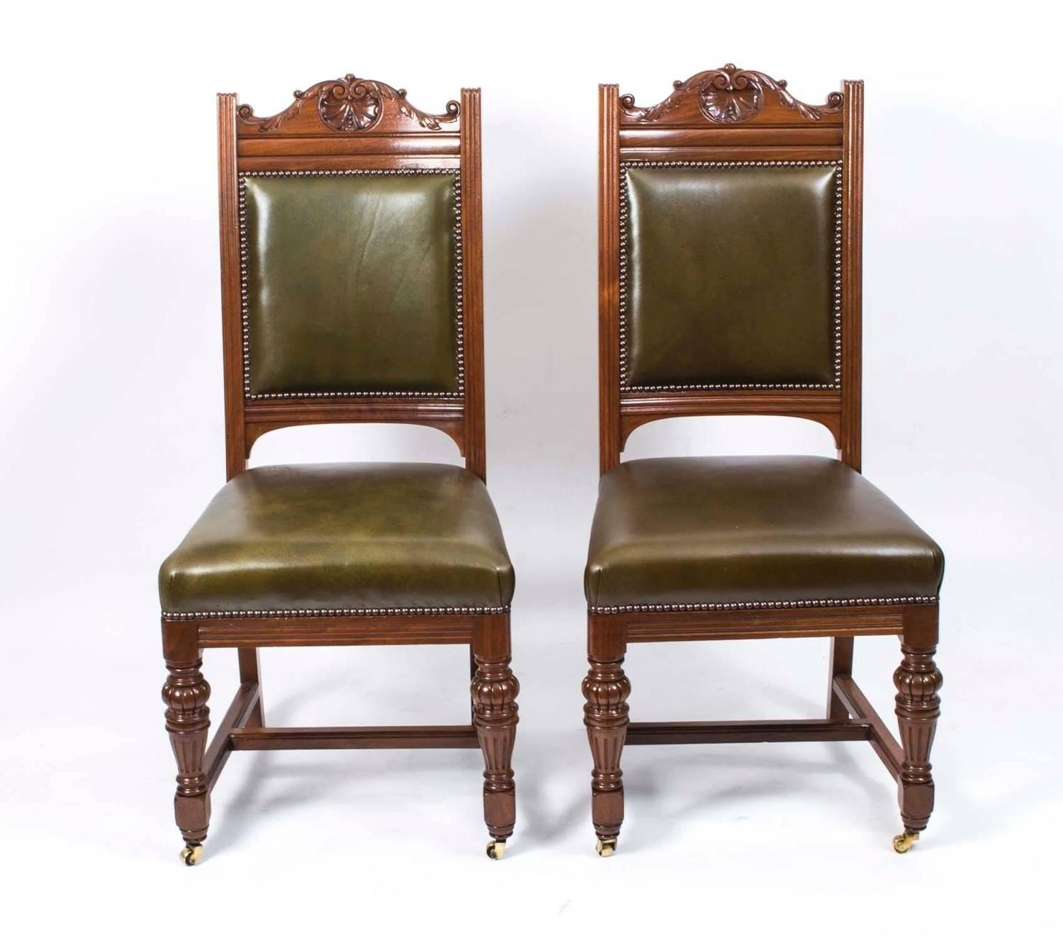 Antique victorian dining chairs - Antique