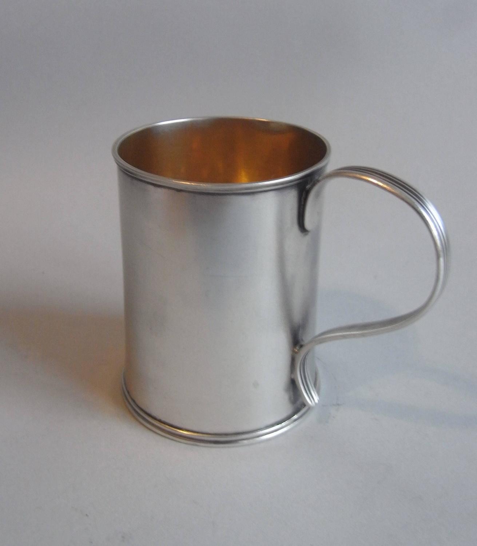 An Unusual George Iii Can Shaped Drinking Mug Made In