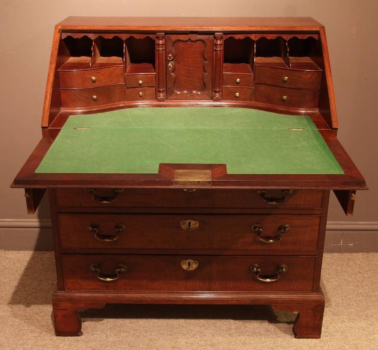 fine mid 18th century mahogany bureau circa 1760 at 1stdibs. Black Bedroom Furniture Sets. Home Design Ideas