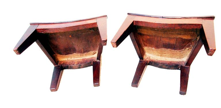 Hepplewhite Antique Pair of Miniature Mahogany Chairs For Sale