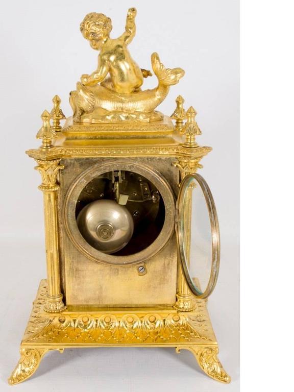 Antique French Sevres Porcelain Ormolu Clock Circa 1870