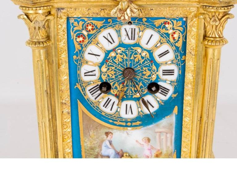 Late 19th Century 19th Century French Sevres Porcelain Ormolu Clock