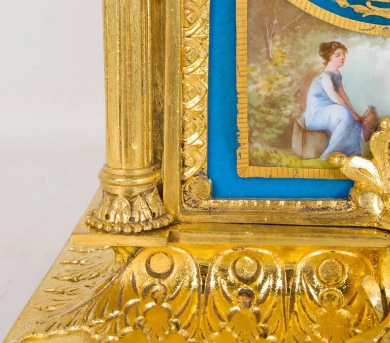 19th Century French Sevres Porcelain Ormolu Clock 2