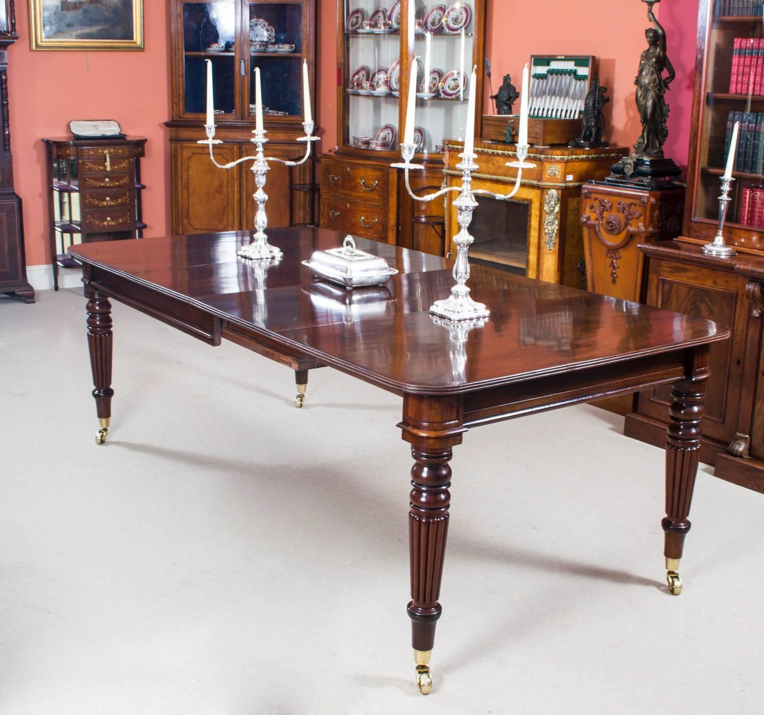 Antique Dining Room Table: Antique Regency Mahogany Dining Table Eight Balloon Back