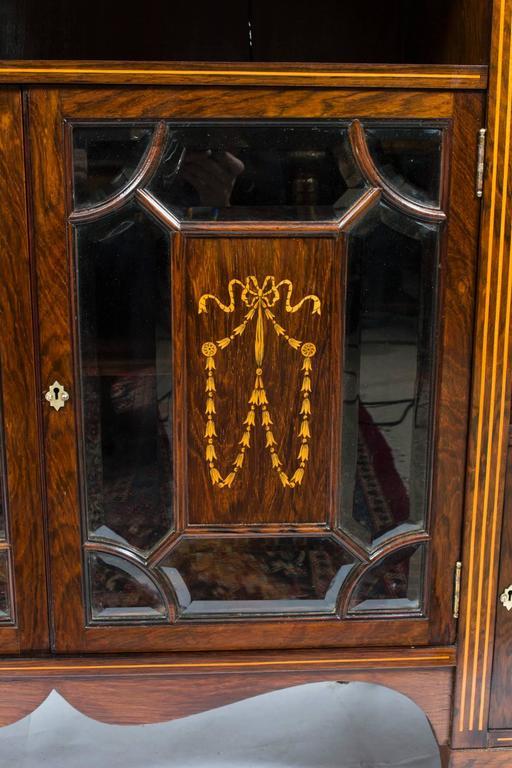 Antique edwardian rosewood inlaid cabinet circa 1890 for for 1 panel inlaid oak veneer door