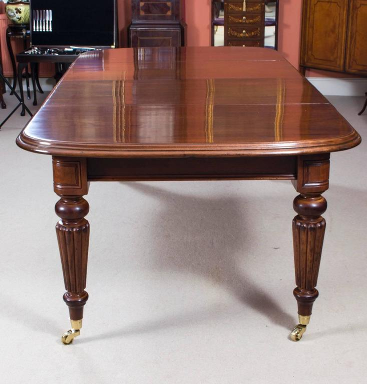 Victorian Dining Room Table: Antique Victorian Dining Table Eight Admiralty Back Chairs