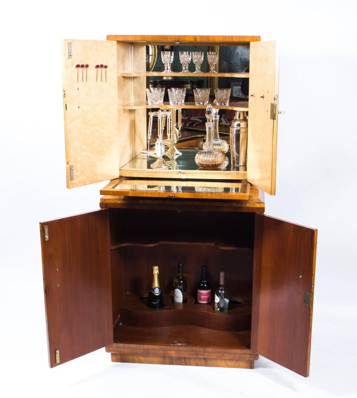 antique art deco burr walnut cocktail bar circa 1930 at 1stdibs. Black Bedroom Furniture Sets. Home Design Ideas