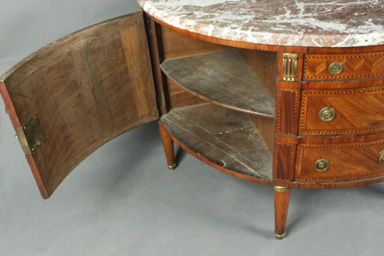 Antique Demilune Commode In Good Condition For Sale In Bradford on Avon, Wiltshire