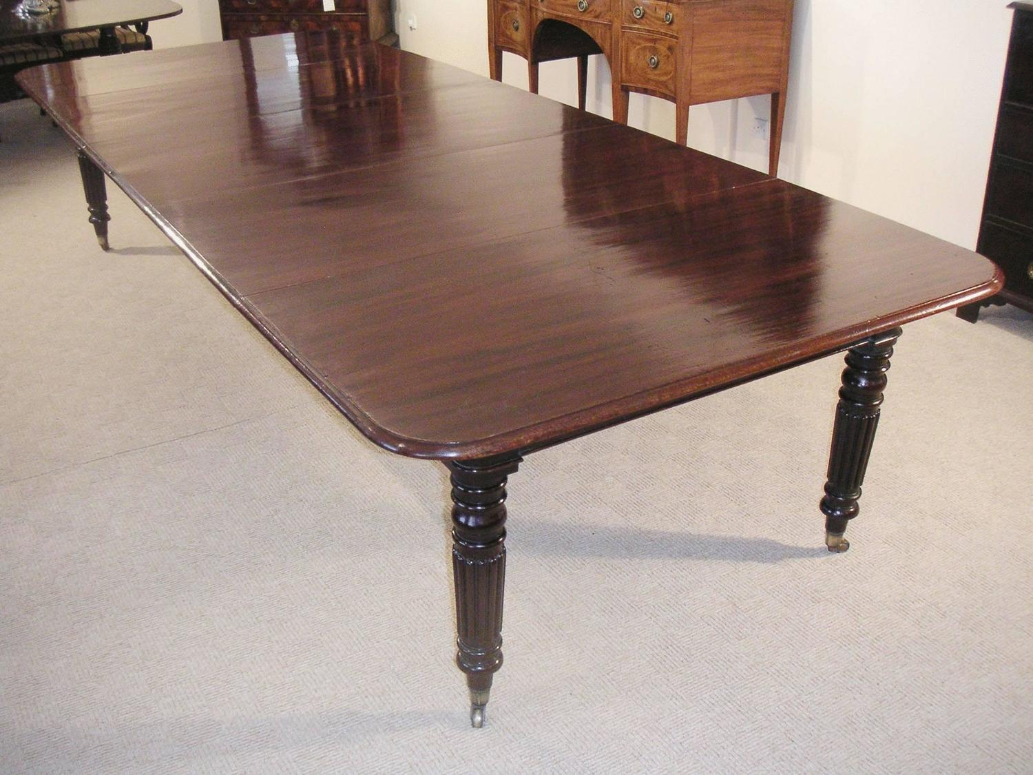 Mahogany extending dining table to seat 10 14 for sale at for 10 seater dinning table
