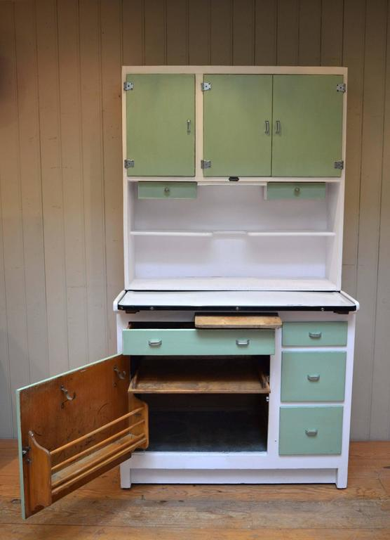 an original easiwork kitchen cabinet the top section having three doors each with the original 1930s easiwork kitchen cabinet at 1stdibs  rh   1stdibs com