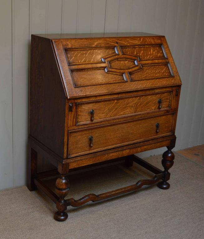 solid oak bureau at 1stdibs. Black Bedroom Furniture Sets. Home Design Ideas