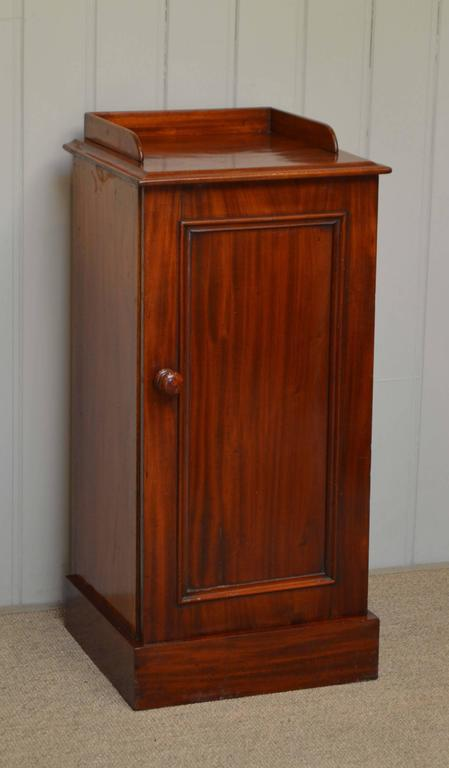 Victorian mahogany bedside cabinet for sale at 1stdibs for Bedroom cabinets for sale