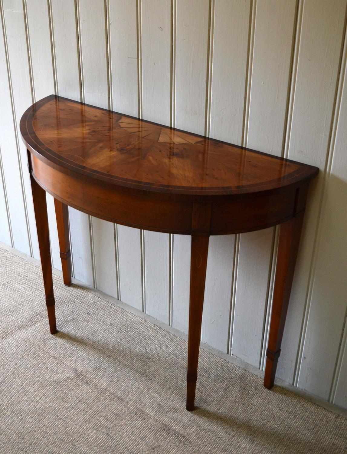 mahogany demilune table at 1stdibs