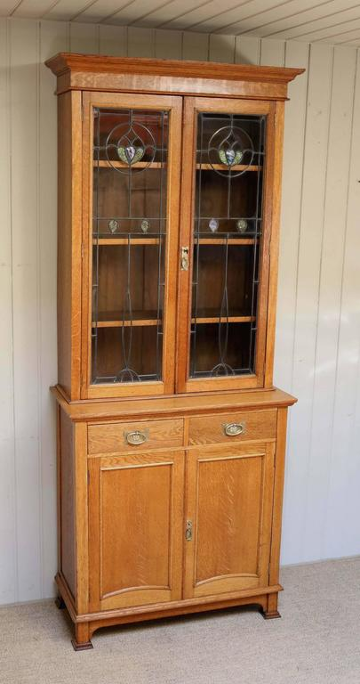 Arts and crafts cabinet bookcase at 1stdibs for Arts and crafts storage cabinet
