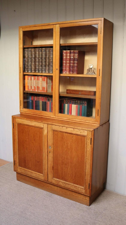 large light oak cabinet bookcase for sale at 1stdibs